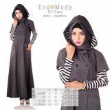 Beli Baju Original Endo Moda Sn 13 Dress Wanita Baju Muslim Modern Gamis Katun Supernova Premium Warna Grey Secara Angsuran