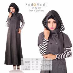Promo Baju Original Endo Moda Sn 13 Dress Wanita Baju Muslim Modern Gamis Katun Supernova Premium Warna Grey Di Jawa Barat