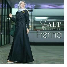 Baju Original Frenna Gamis Dress Balotelly Gamis Panjang Hijab Casual Pakaian Wanita Hijab Modern Warna Hitam