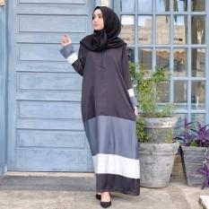 Baju Original Gamis Adistia Dress Baju Panjang Muslim Casual Wanita Pakaian Hijab Modern Modis Trendy Terbaru 2018 Warna Hitam