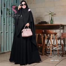 Baju Original Gamis Fatima Syar'i Dress Baju Panjang Muslim Casual Wanita Pakaian Hijab Modern Modis Trendy Terbaru 2018 Warna Black