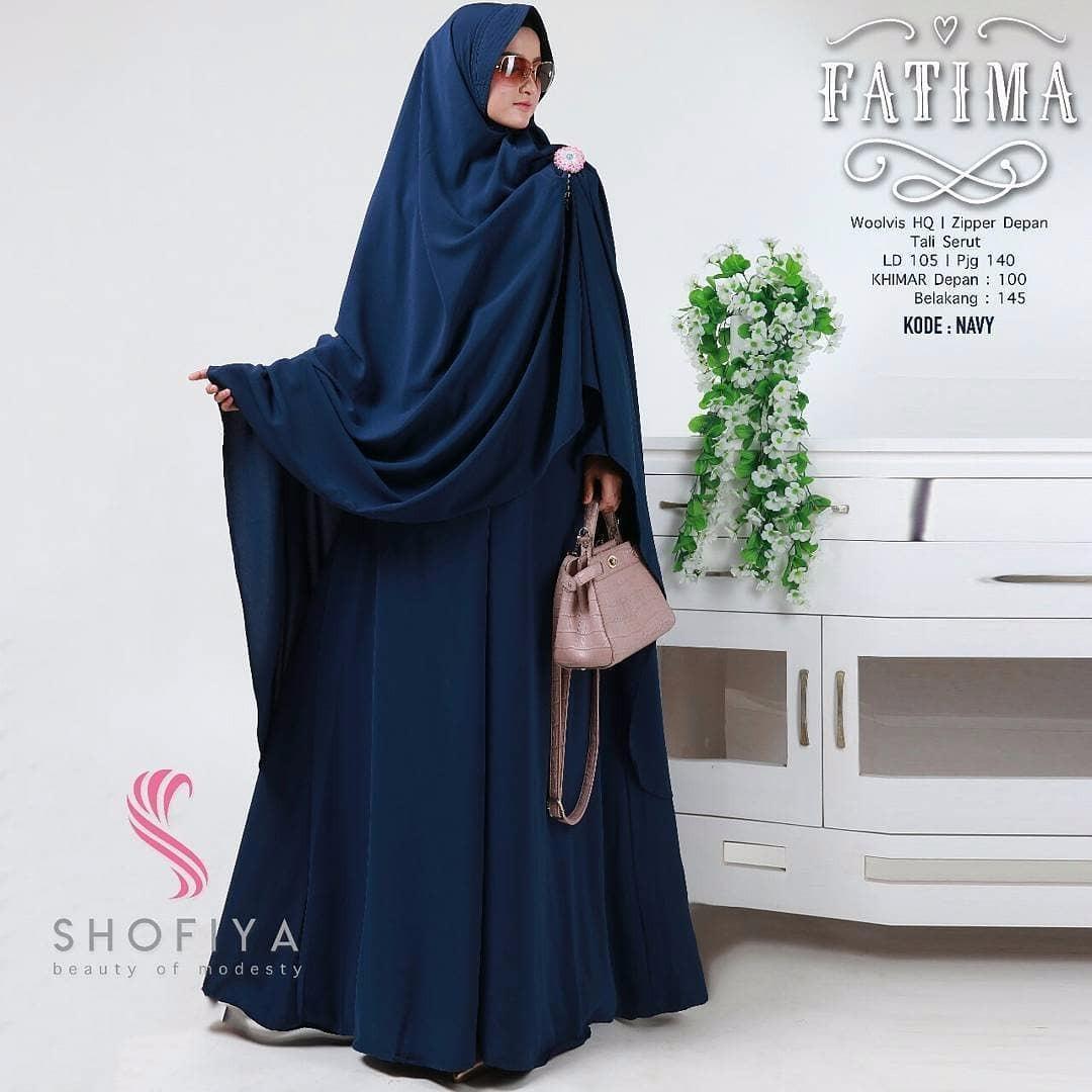 Model Elegan Baju Original Gamis Fatima Syar i Dress Baju Panjang Muslim  Casual Wanita Pakaian Hijab Modern b8979ad2a6