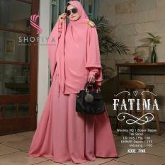 Baju Original Gamis Fatima Syar'i Dress Baju Panjang Muslim Casual Wanita Pakaian Hijab Modern Modis Trendy Terbaru 2018 Warna Pink