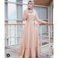 Baju Original Gamis Indrie Dress Baju Panjang Muslim Casual Wanita Pakaian  Hijab Modern Modis Trendy Terbaru ebf1962b1e