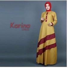 Baju Original Gamis Karina Dress Baju Panjang Casual Wanita Hijab Baju Modern Trendy Warna Mustard