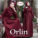 Jual Baju Original Gamis Orlin 2 Dress Baju Panjang Muslim Casual Wanita Pakaian Hijab Modern Modis Trendy Terbaru 2018 Warna Maroon Termurah
