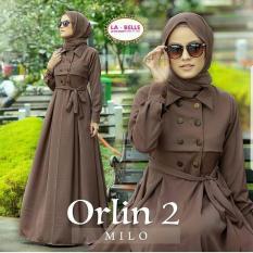 Baju Original Gamis Orlin 2 Dress Baju Panjang Muslim Casual Wanita Pakaian Hijab Modern Modis Trendy Terbaru 2018 Warna Millo