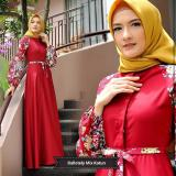 Jual Baju Original Gamis Raffa Dress Baju Panjang Muslim Casual Wanita Pakaian Hijab Modern Modis Trendy Terbaru 2018 Warna Red Baru