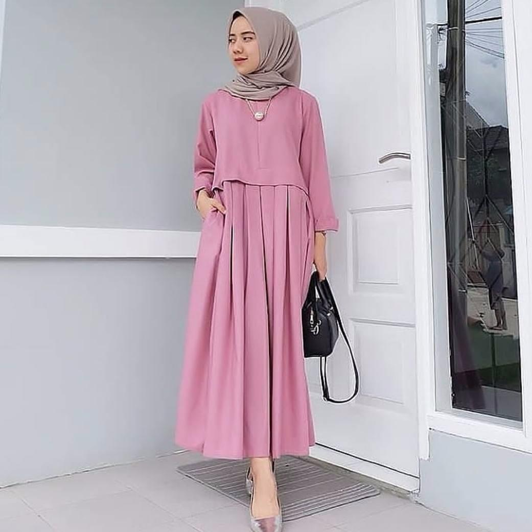 Beli Baju Original Gamis Rania Dress Baju Panjang Muslim Casual