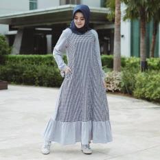 Baju Original Gamis Reglan Dress Baju Panjang Muslim Casual Wanita Pakaian Hijab Modern Modis Trendy Warna Onmod