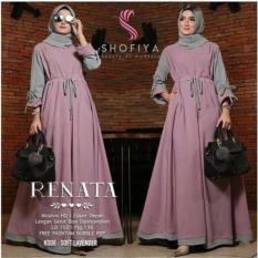 Baju Original Gamis Renata Dress Baju Panjang Casual Wanita Hijab Baju Modern Trendy Warna Soft Lavender