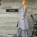 Jual Baju Original Gamis Safira Dress Baju Panjang Muslim Casual Wanita Pakaian Hijab Modern Modis Trendy Terbaru 2018 Warna Dark Grey Baju Original Branded