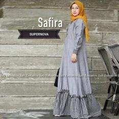 Baju Original Gamis Safira Dress Baju Panjang Muslim Casual Wanita Pakaian Hijab Modern Modis Trendy Terbaru 2018 Warna Dark Grey