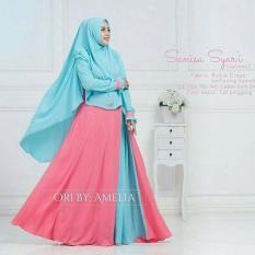 Harga Baju Original Gamis Sanisa Syar I Dress Wolfice Baju Panjang Casual Wanita Hijab Baju Modern Trendy Warna Salmon Baju Original Ori