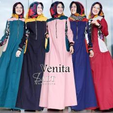 Baju Original Gamis Venita Dress Baju Panjang Muslim Casual Wanita Pakaian Hijab Modern Modis Trendy Terbaru 2018 Warna Tosca