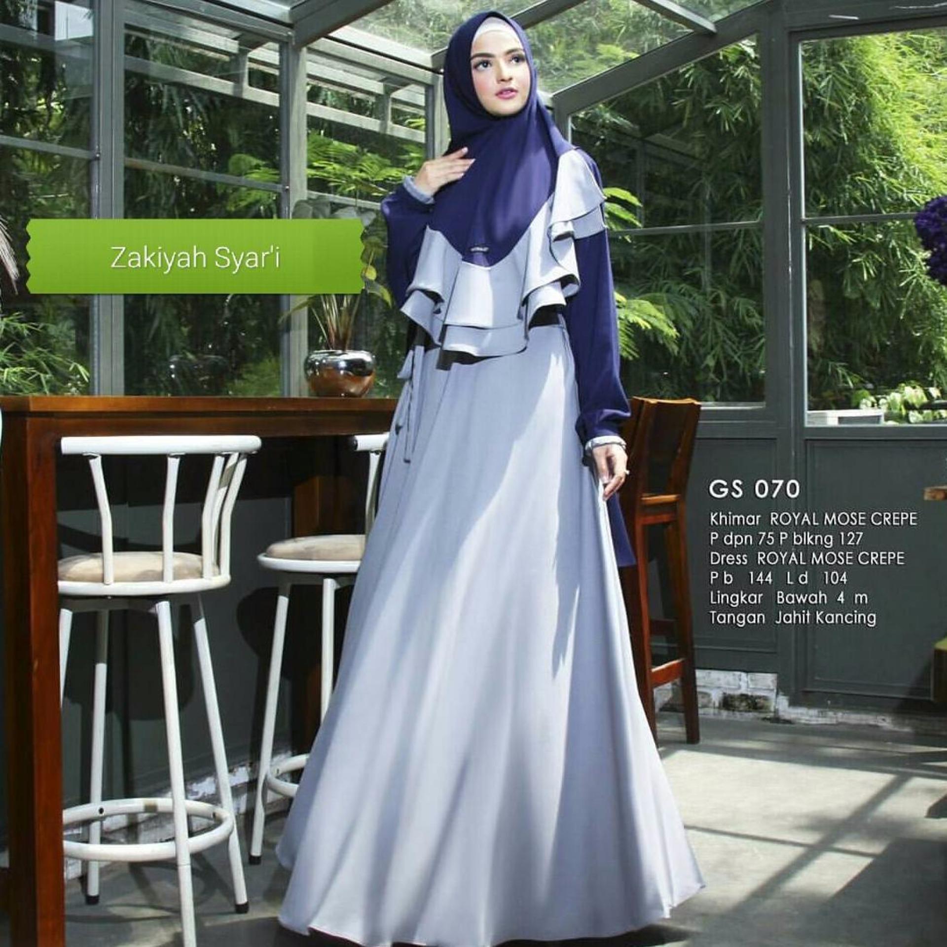 Beli Baju Original Gamis Zakiyah Syar I Dress Baju Panjang Muslim