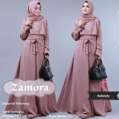 Baju Original Gamis Zamora Dress Baju Panjang Muslim Casual Wanita Pakaian Hijab Modern Modis Trendy Terbaru 2018 Warna Coksu