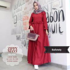 Baju Original Gamis Zippy Maxi Dress Baju Panjang Muslim Casual Wanita  Pakaian Hijab Modern Modis Trendy 5ce57fb00c