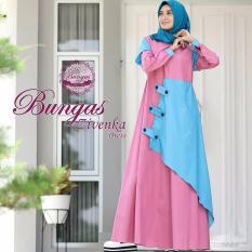 Baju Original Gamis Zivenka Dress Baju Panjang Muslim Casual Wanita Pakaian Hijab Modern Modis Trendy Terbaru 2018 Warna Dusty