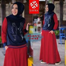 Baju Original Gea Stelan Jumpsuite Overall Baju Panjang Wanita Muslim Hijab Moderen Bagus Pakaian Trand Terbaru 2018