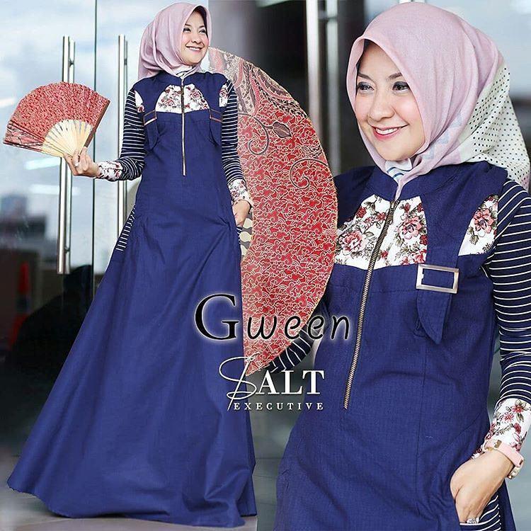 Baju Original Gwen Dress Balotely Gamis Panjang Hijab Casual Pakaian Wanita  Muslim Modern Maxy Terbaru Tahun 94808e9a73