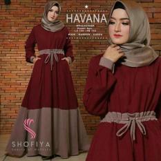 Baju Original Havana Dress Balotelly Gamis Panjang Hijab Casual Pakaian Wanita Terbaru Tahun 2018