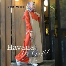 Baju Original Havana Dress Balotely Gamis Panjang Hijab Casual Pakaian Wanita Muslim Modern Maxy Terbaru Tahun 2018