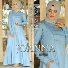 Baju Original Joana Dress Balotely Gamis Panjang Hijab Casual Pakaian Wanita Muslim Modern Maxy Terbaru Tahun 2018