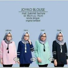 Jual Baju Original Joyko Blouse Wolfis Baju Atasan Wanita Muslim Panjang Pakaian Kerja Santai Casual Simple Warna Navy Antik
