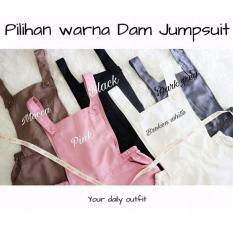 Baju Original Jumpsuit Akaza Dam Jumpsuite Baju Wanita Muslim Casual Modis Modern Trendy Warna Dark Grey Asli