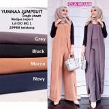 Jual Baju Original Jumpsuit Yumna Jumpsuite Baju Wanita Muslim Casual Modis Modern Trendy Warna Mocca Original