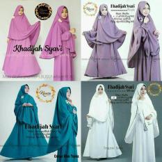 Baju Original Khadijah Syari Gamis Dress Muslimah Baju Panjang Wanita Hijab Trendy Pakaian Cewek Modern White