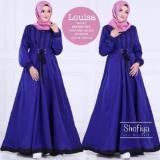 Beli Baju Original Louisa Dress Balotelly Gamis Panjang Hijab Casual Pakaian Wanita Hijab Modern Warnabiru Elektrik Baju Original Dengan Harga Terjangkau