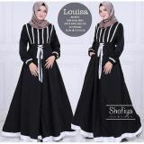 Harga Baju Original Louisa Dress Balotelly Gamis Panjang Hijab Casual Pakaian Wanita Hijab Modern Warnablack Asli Baju Original