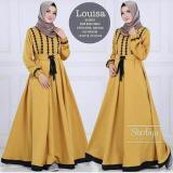 Jual Cepat Baju Original Louisa Dress Balotelly Gamis Panjang Hijab Casual Pakaian Wanita Hijab Modern Warnamustard
