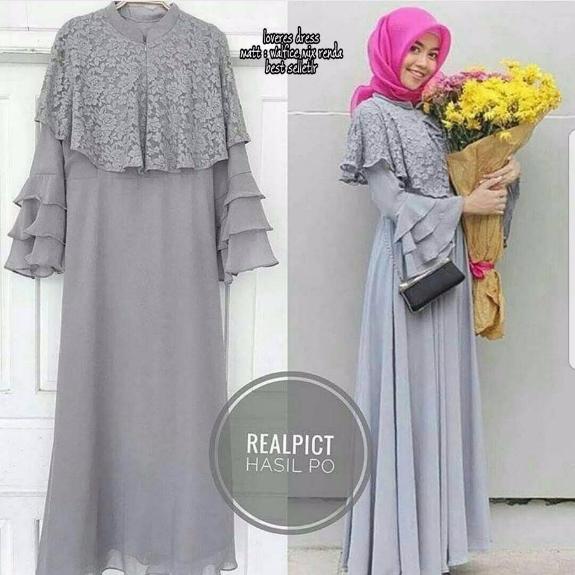 Murah Baju Original Gamis Samira Brukat Dress Baju Panjang Casual