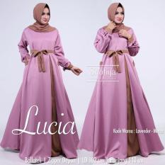 Baju Original Lucia Dress Gamis Wolfice Wolfice Panjang Baju Hijab Terusan Pengajian Wanita Muslimah Lavender