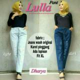 Promo Baju Original Lulla Pants Jeans Wash Celana Panjang Wanita Muslim Bawahan Cewek Hijab Warna Dark