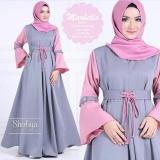 Jual Beli Baju Original Marbella Dress Balotelly Gamis Panjang Hijab Casual Pakaian Wanita Hijab Modern Warnagrey Pink Jawa Barat