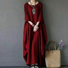 Baju Original Marsyanda Dress Buble Crepe Gamis Panjang Hijab Casual Pakaian Wanita Muslim Modern Maxy Terbaru Tahun 2018