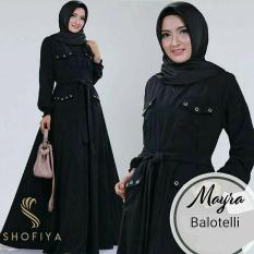 Baju Original Mayra Dress Balotely Gamis Panjang Hijab Casual Pakaian Wanita Muslim Modern Maxy Terbaru Tahun 2018