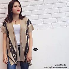 Baju Original Milan Cardie Rajut Komputer Import Cardigan Rajut Baju Hangat Rajut Premium Tebal Outer Rajut