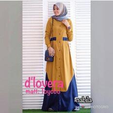 Baju Original Nabila Vol 2 Dress Balotely Gamis Panjang Hijab Casual Pakaian Wanita Muslim Modern Maxy Terbaru Tahun 2018