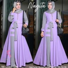 Baju Original Nagita Dress Balotelly Gamis Panjang Hijab Casual Pakaian Wanita Terbaru Tahun 2018
