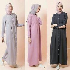 Baju Original Nava Maxy Wolfice Gamis Panjang Hijab Casual Pakaian Wanita Muslim Modern Maxy Terbaru Tahun 2018