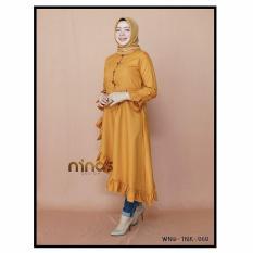 Baju Original Ninos Tunik Balloteli Gamis Panjang Hijab Casual Pakaian Wanita Hijab Modern
