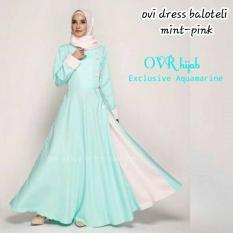 Baju Original Ovi Dress Balotely Gamis Panjang Hijab Casual Pakaian Wanita Muslim Modern Maxy Terbaru Tahun 2018