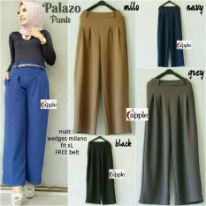 Baju Original Palazo Pants Celana Panjang Wanita Muslim Bawahan Cewek Hijab Millo