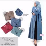 Toko Baju Original Plain Ajiko Outer Cardi Katun Rami Long Vest Cardigan Muslim Wanita Hijab Luaran Casual Warnamaroon Terdekat