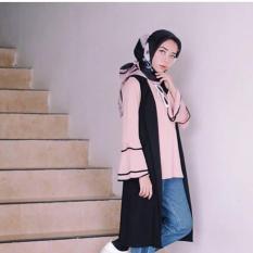 Baju Original Raya Tunik Wolfice + Iner Nyatu Pakaian Wanita Muslim Modern Muslimah Panjang Casual Simple Murah